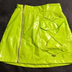 LF neon green skirt